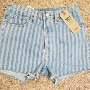 NWT Levi's 501 High rise shorts MSRP $50